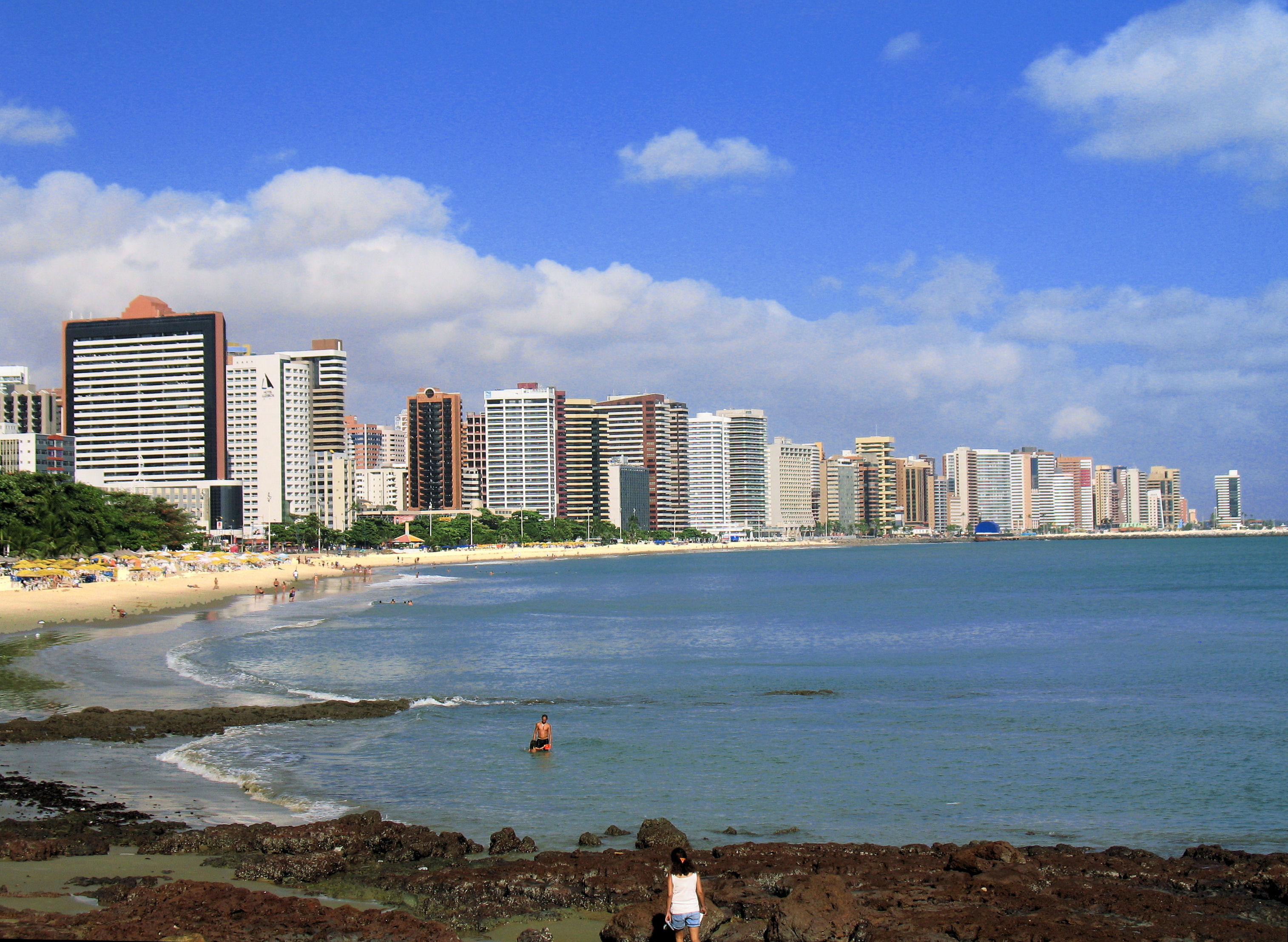 Fortaleza stands out in Brazil for its sandy beaches, blue waters, and gleaming architecture