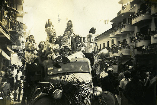 Carnaval celebrations in Panama City 1946