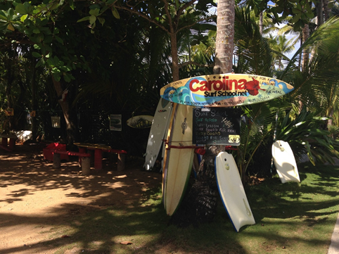 Take a surf lesson at the Carolina Surf School on Playa Bonita