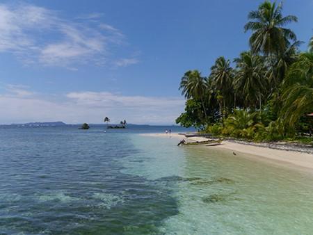 White sand beach in Bocas del Toro