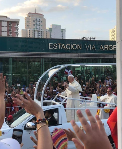 Arrival of Pope Francis for World Youth Day 2019