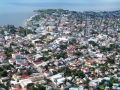 An aerial view of San Pedro, Belize.