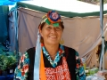 Mapuche woman in traditional dress, Chile.