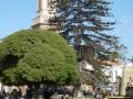 A church overlooks the plaza in La Serena, Chile.