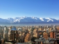 Santiago, Chile, backed by snowy mountains.