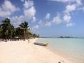 A white sand beach in the Dominican Republic.