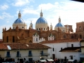 Domes of the New Cathedral in Cuenca, Ecuador.