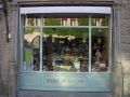 A village shopfront in France displays Easter decorations.