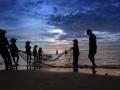 Fisherman At Dawn Vietnam
