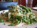 A plate of pasta primavera.