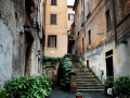 A steep alleyway in Rome, Italy