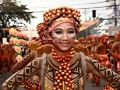 Local girl dressed in costume for the Sinalog festival in Cebu, Philippines.