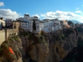 Houses on the edge of Ronda Gorge, Spain.