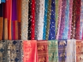 Traditional Thai silks and scarves.