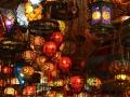 turkish lamps in bazaar
