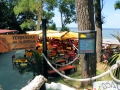An outdoor café in Atlantida the Uruguayan coast.