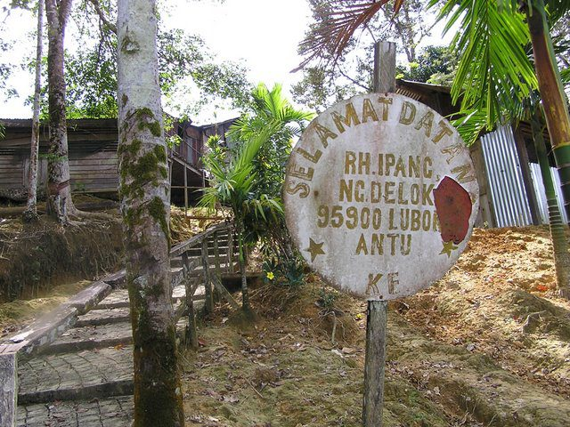 Longhouse community, Sarawak, Malaysian Borneo