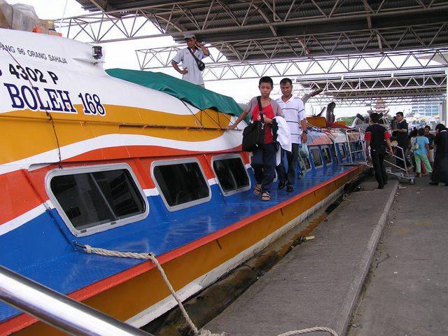 River ferry, Sarawak, Malaysian Borneo