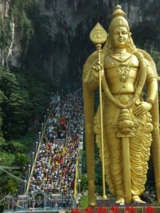 Ascending the Steps During the Thaipusam Festival, Batu Caves