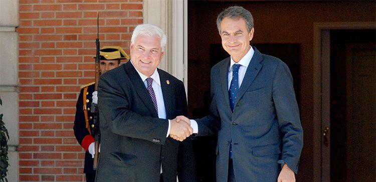 President Ricardo Martinelli With Spanish equal Zapatero.