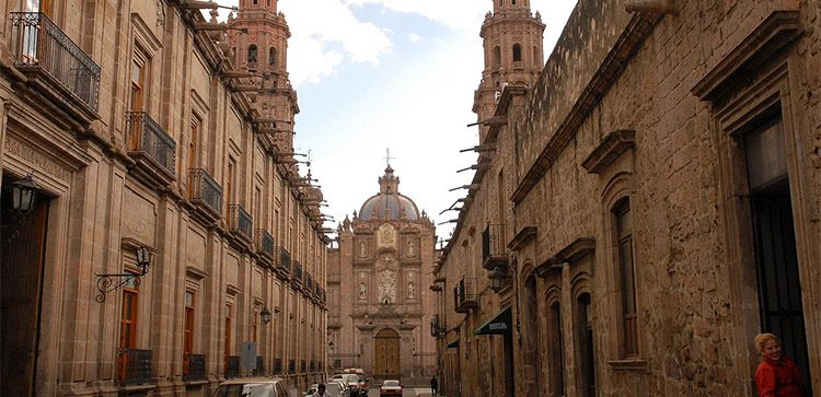 Downtown Morelia, In Michoacan, seems taken straight from the Old World.