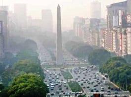 Buenos Aires under smoke