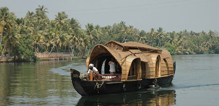 House Boats are a common sight near Allepey, India.