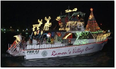 San Pedro Town Boat in the Christmas Boat Parade