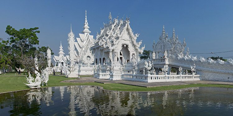 Wat Rong Khun Temple, is a main attraction in Chiang Rai.