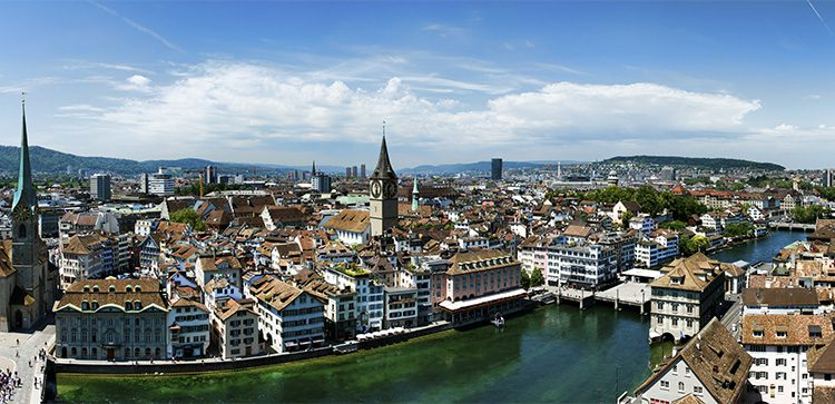 Zurich amazes with its limitless views.