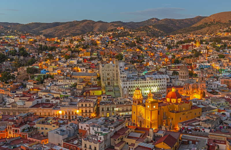 guanajuato in mexico colonial city