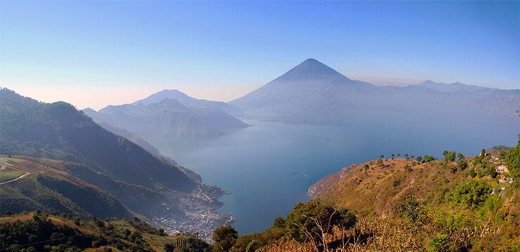 Majestic Lake Atitlán, in Guatemala