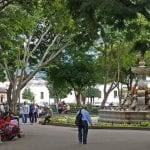 Antigua's central plaza
