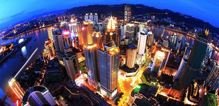 Chongqing, China, At night, - Travel In Southwest China