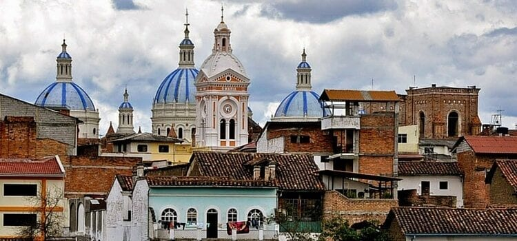 A view of Cuenca, Ecuador's neighborhoods and cathedrals.