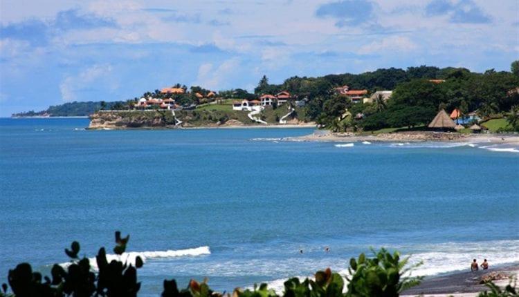 Houses along the coastline of Coronado Beach in Panama