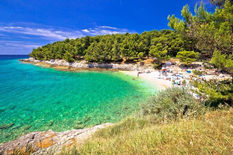 Istria beach croatia