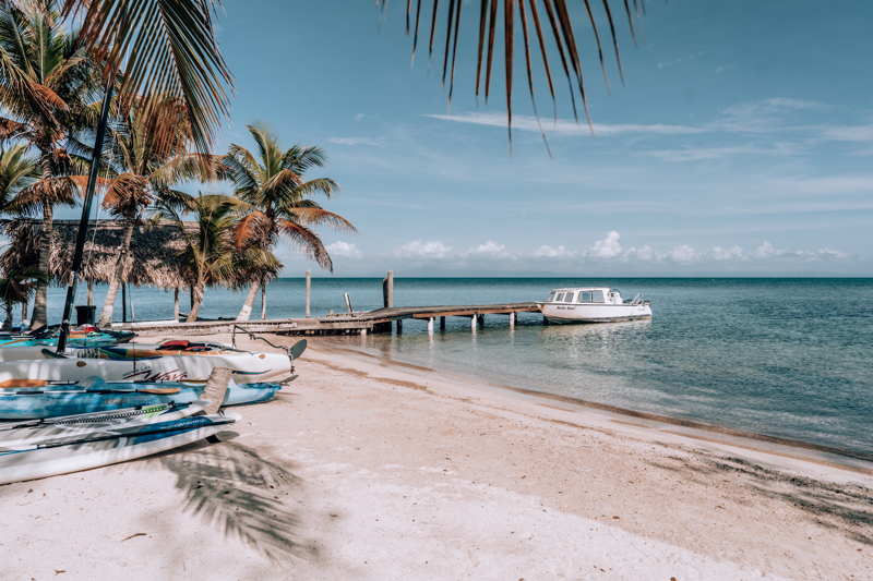 A quiet beach in belize, tropical paradise