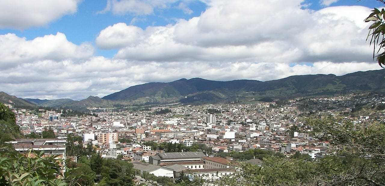 city view of Loja, Ecuador