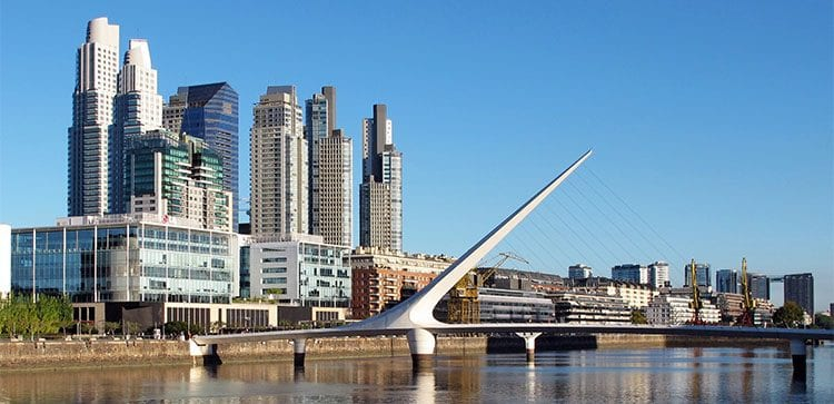 Even in Puerto Madero, transactions can be made completely in cash when buying property in Argentina or Uruguay