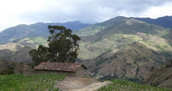 A view of Vilcabamba, a little, tranquil town in Ecuador.