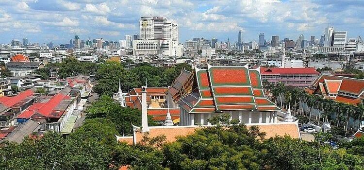 Skyline view of Bangkok, Thailand