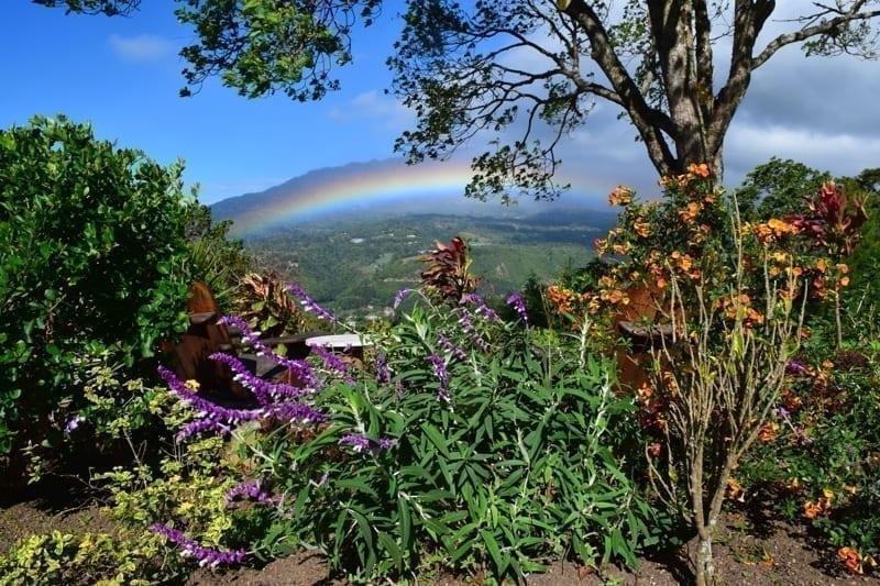 Rainbow with Volcano Baru, Panama