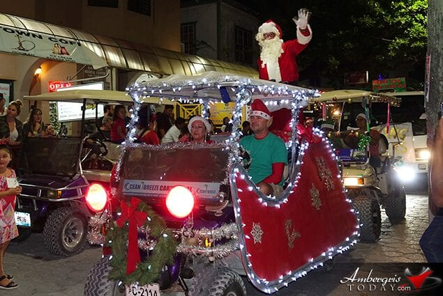 Love FM Christmas Parade in Belize