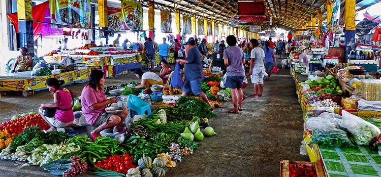 Outdoor market in the Philippines