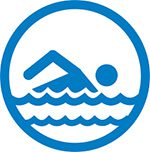 illstration of person swimming