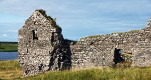 Clonmacnoise castle ruins, Ireland