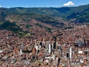 Medellín skyline, Colombia