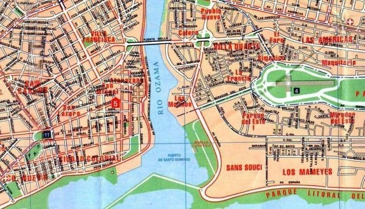 Map of Santo Domingo, Dominican Republic