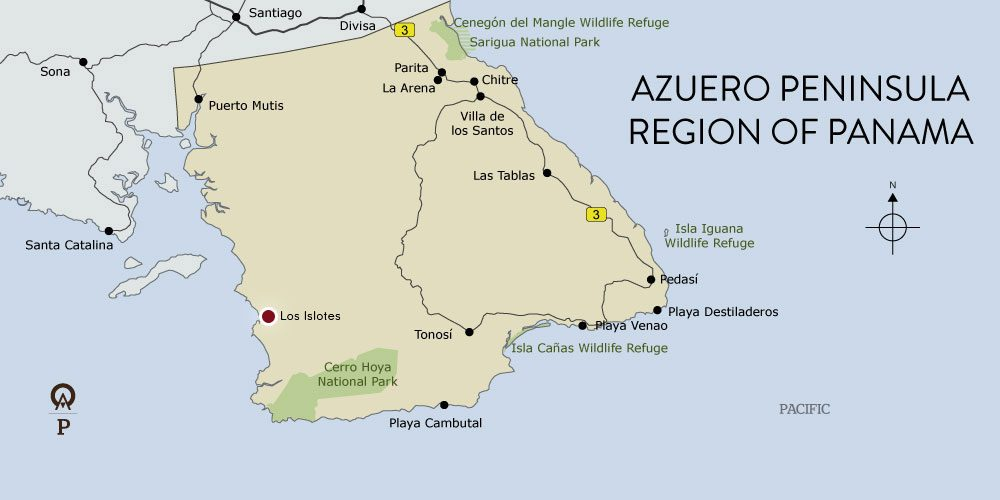 Panama Azuero Peninsula map